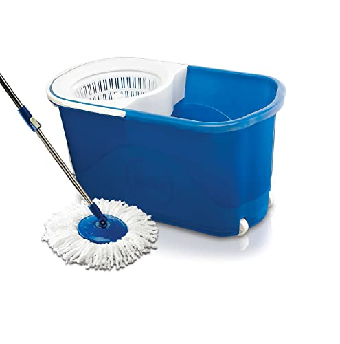 3. Gala Spin mop with easy wheels and bucket for magic 360 degree cleaning (with 2 refills)