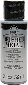 FolkArt Brushed Metal Paint in Assorted Colors (2 oz), Silver