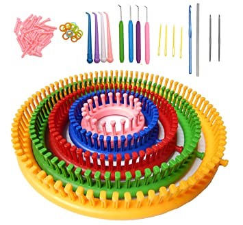 a38a5703745 New Design Round Knitting Loom Set Knitting Board Weave Loom Craft Yarn Kit  DIY Tool with