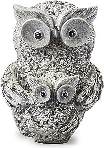Roman Garden - Owl and Baby Statue, 8