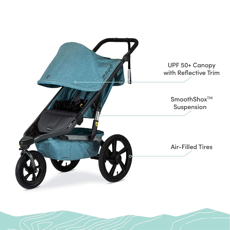 Amazon.com : BOB Gear Alterrain Jogging Stroller | Quick Fold + Adjustable  Handlebar + XL UPF 50+ Canopy, Melange Teal : Baby
