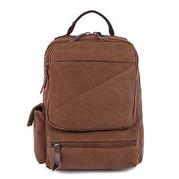M.G. mu8605 Canvas Backpack, Coffee