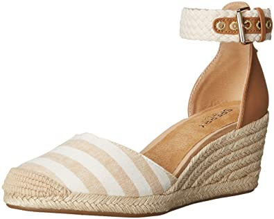 70fa06202 Sperry Women s Valencia Sand NAT Stripes Wedge Pump