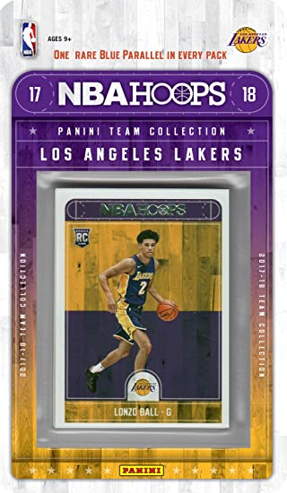 Los Angeles Lakers 2017 2018 Hoops Basketball Factory Sealed 11 Card NBA  Licensed Team Set with Kyle Kuzma and Lonzo Ball Rookie Cards Plus   Amazon.co.uk  ... 31dcb414a