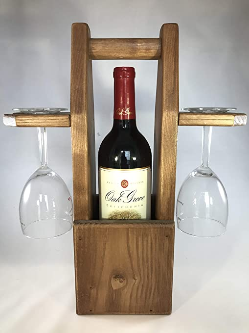 Rustic Wine Caddy Bar Tools Drinkware