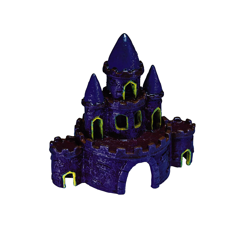"""Amazon GloFish Castle Ornament for Aquarium 3 1"""" x 3 9"""