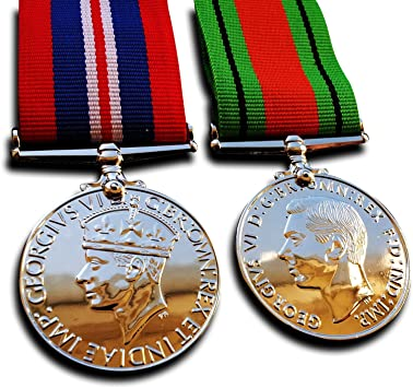 Medalla militar Goldbrothers13 Medalla de guerra y defensa de la WW2 medallas militares de campaña británica 1945 Repro: Amazon.es: Juguetes y juegos