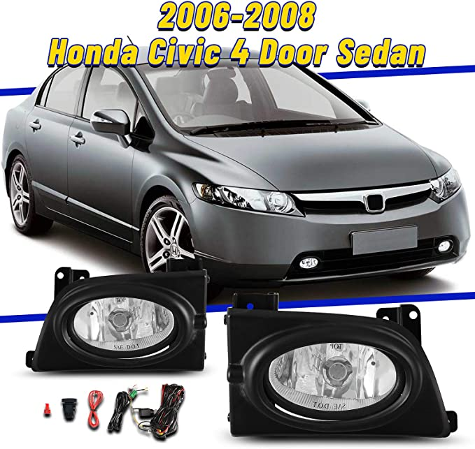 Yellow Lens AUTOFREE Fog Lights Fit for Honda Civic 1999 2000 with ...