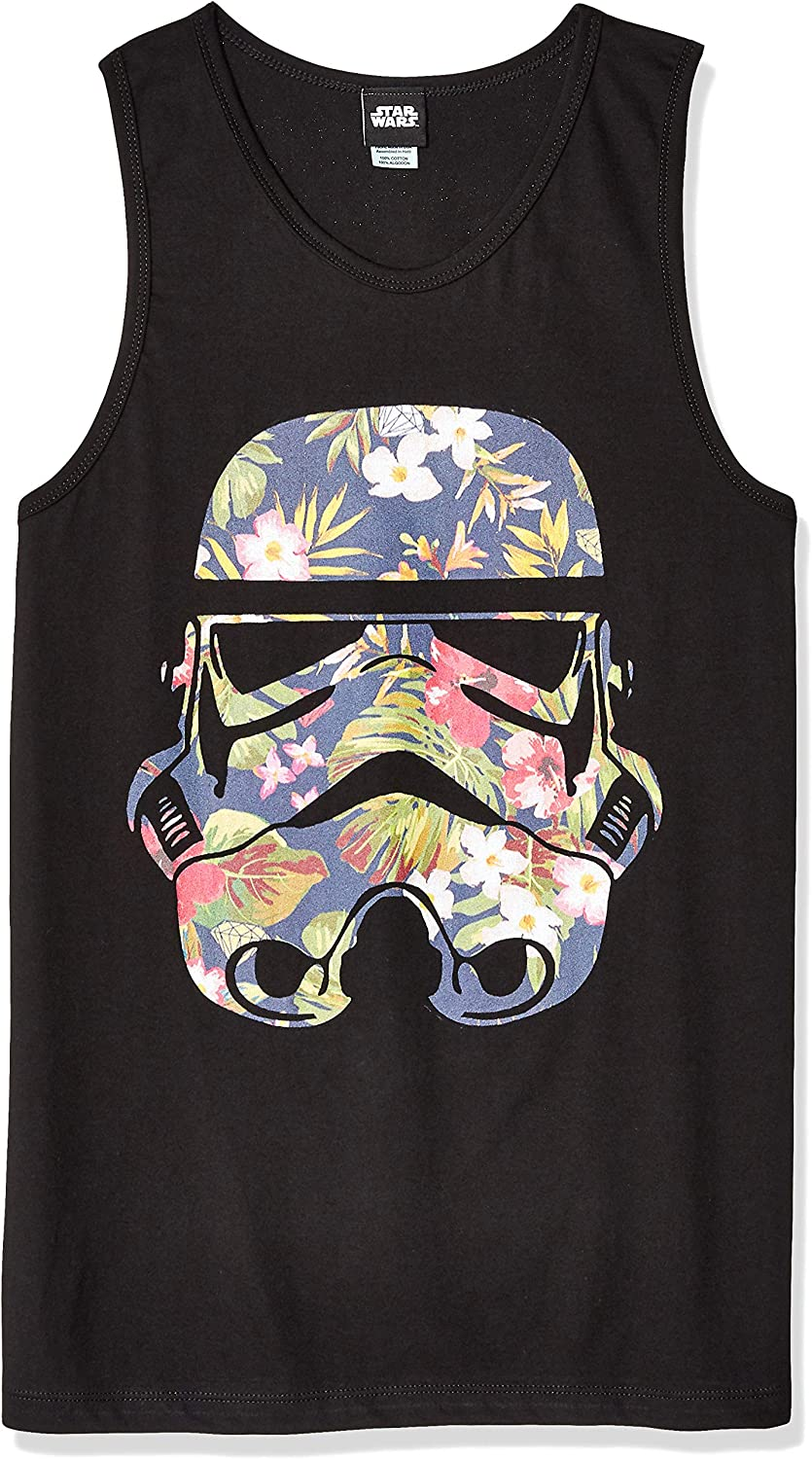 Star Wars Officially Licensed Storm Flowers Men's Tank: Clothing
