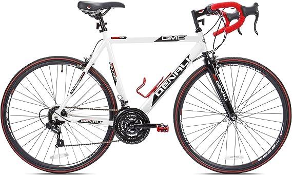 700c GMC Denali - Bicicleta para Hombre (25 Pulgadas), Color Blanco y Rojo: Amazon.es: Electrónica