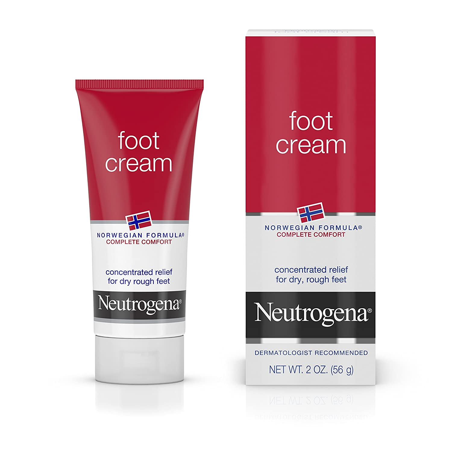 Neutrogena Norwegian Formula Moisturizing Foot Cream, 2 Oz. (Pack of 6) 070501240007