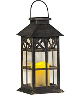 solar lantern solid metal and glass estate solar mission lantern
