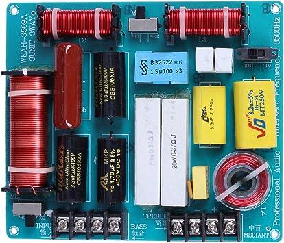 Noblik 1 Unid 350 W 3 V/ías Cruce Tablero de Audio Tweeter Mediante Divisor de Frecuencia de Bajos para 4-8 Ohm DIY Ktv Escenario Filtro de Altavoz