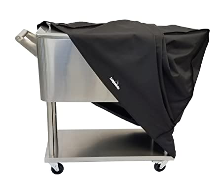 Cooler Cart Cover – Universal Fit For Most 80 QT Rolling Cooler Patio Cooler On Wheels, Beverage Cart, Rolling Ice Chest, Party Cooler Protective Cover, Water Proof, New 2018