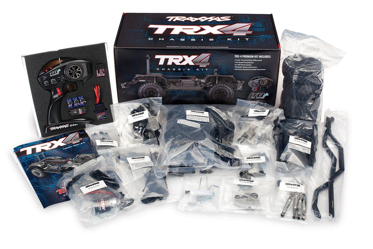 Traxxas 1/10 Scale TRX-4 Trail and Scale Crawler Chassis Kit with 2.4GHz TQi Radio