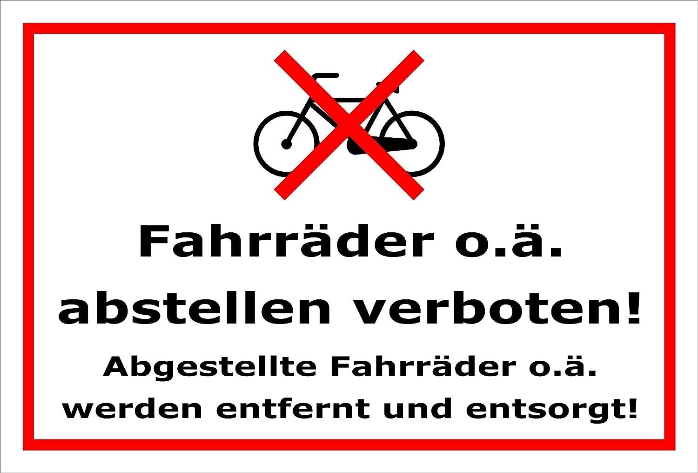 Melis Folienwerkstatt meliso Pantalla Taller Etiqueta Cartel–Bicicletas abstellen–s00050–011de B