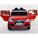 Ride on car AUDI Q5 style. 2 SEATER. 2 speed. Electric car with remote control. Battery operated. Two motors. Total 12v. Electric car for kids to ride