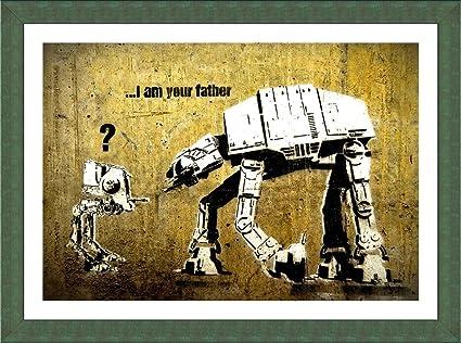 Amazon.com: Alonline Art Star Wars Robot I Am Your Father Banksy ...