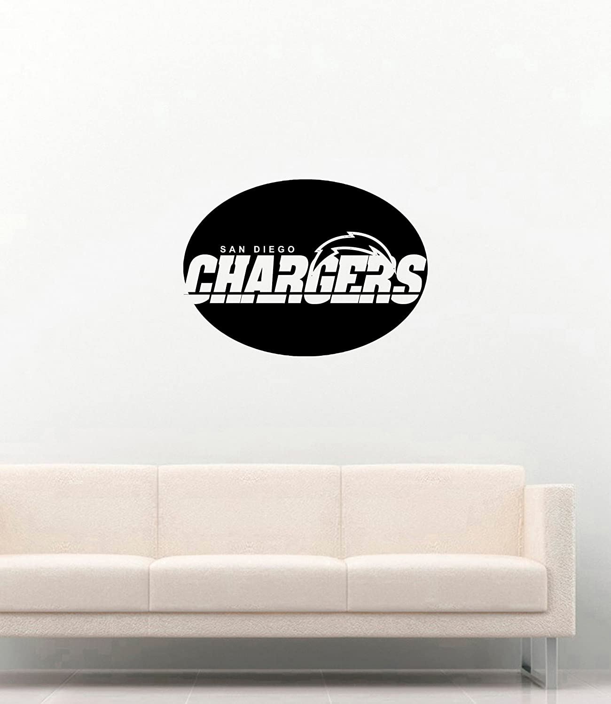 San Diego Chargers Logo Wall Vinyl Decals American Football Logotype Game Team Vinyl Decals Vinyl Murals Stickers IL1126