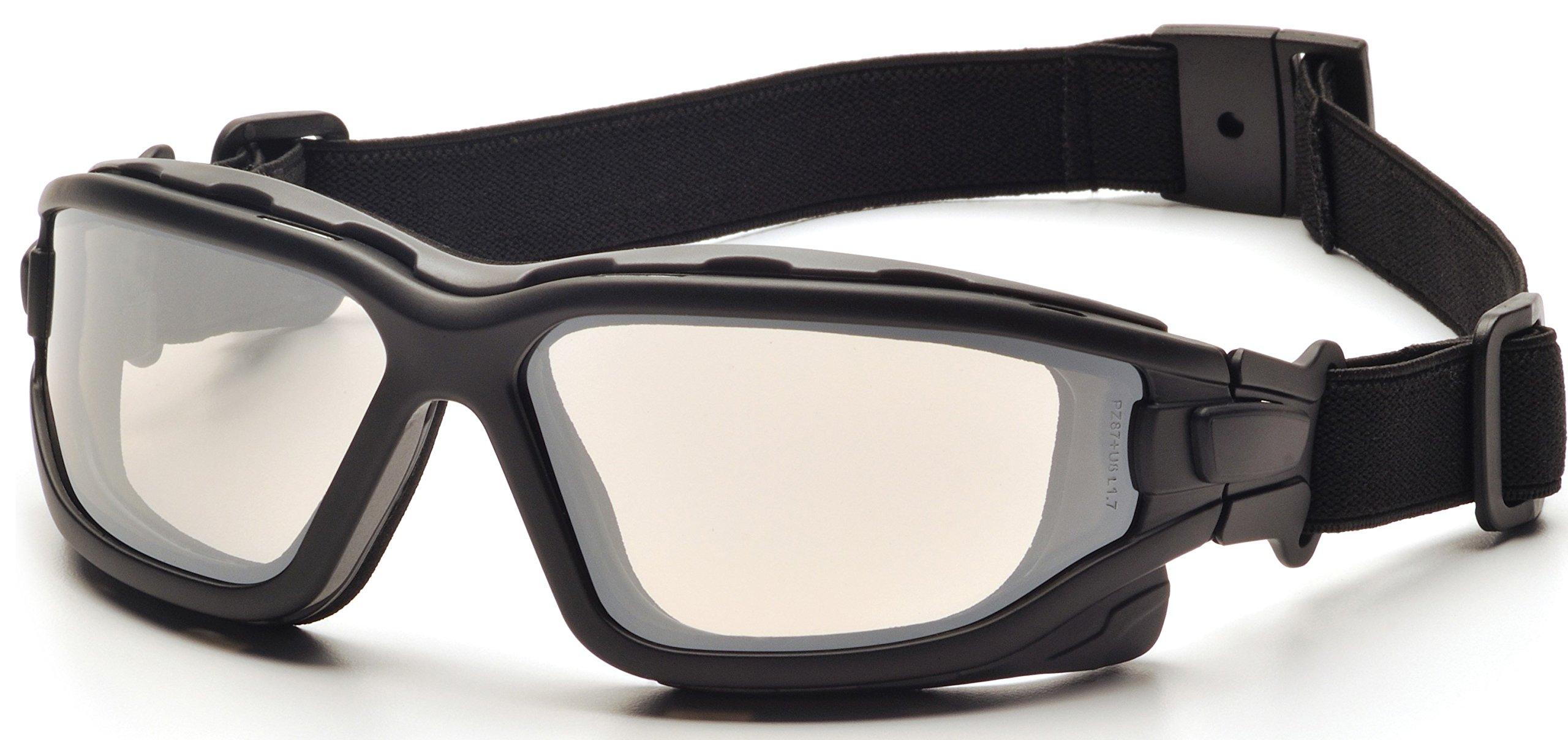 Pyramex I-Force Sporty Dual Pane Anti-Fog Goggle, Indoor/Outdoor Mirror Anti-Fog Lens