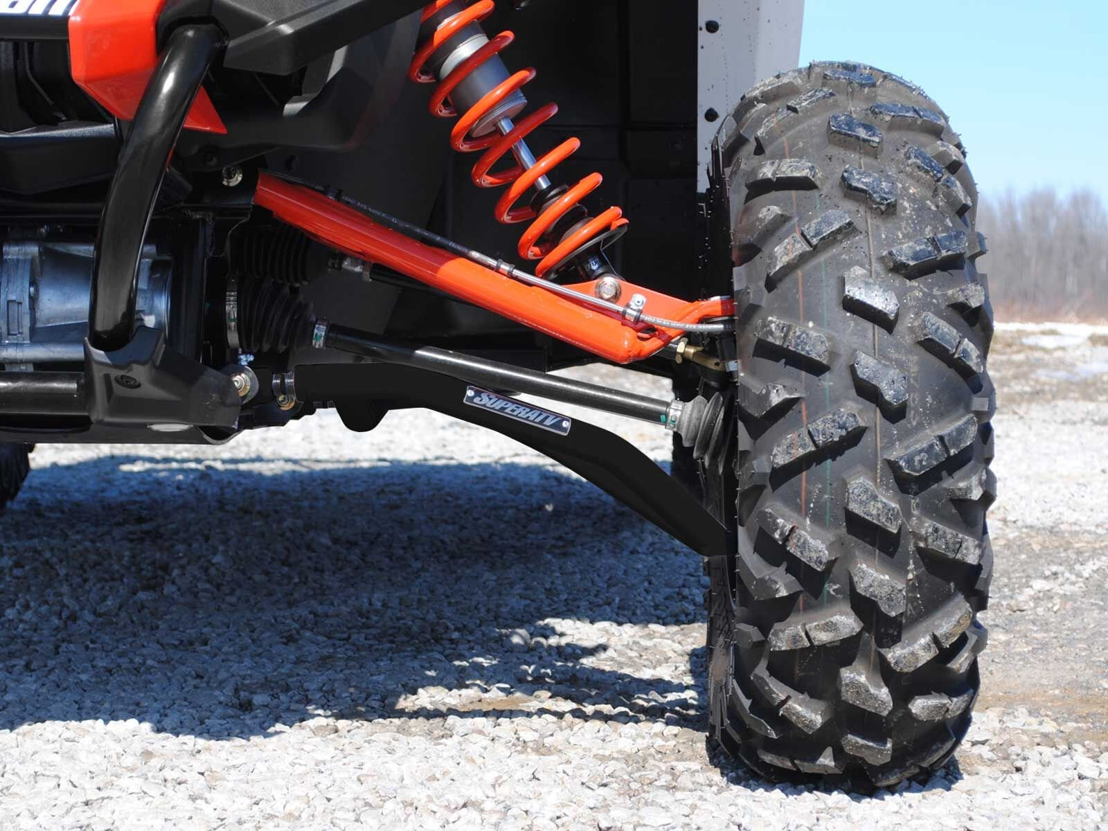 SuperATV High Clearance Front A-Arms for Can-Am Maverick DPS/XMR/XRS/MAX/Turbo (See Fitment) - Black by SuperATV.com (Image #2)