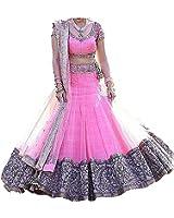Dwarshi Fashion Women's Lehenga Cholis (DF_PINK_01 FREE SIZE)