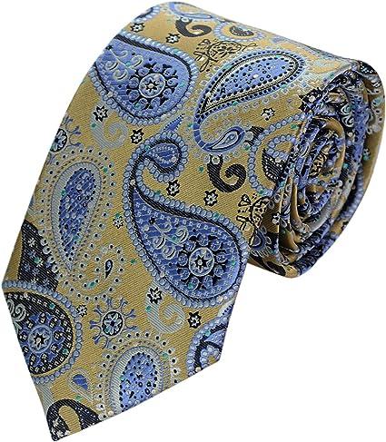Spring Notion Boys Satin Zipper Necktie Antique Gold