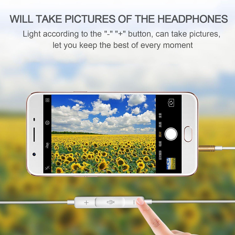 Gagawin Ecouteur filaires,/écouteurs Intra Auriculaires avec Microphone Premium Casque pour iphone 6 6s,6s Plus Smartphones Et Les Autres Jacks 3.5mm Appareils Android 1 Pack