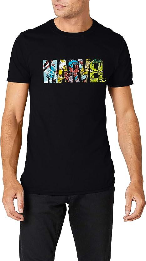 Marvel Comic Strip Logo T-Shirt Camiseta para Hombre: Amazon.es ...