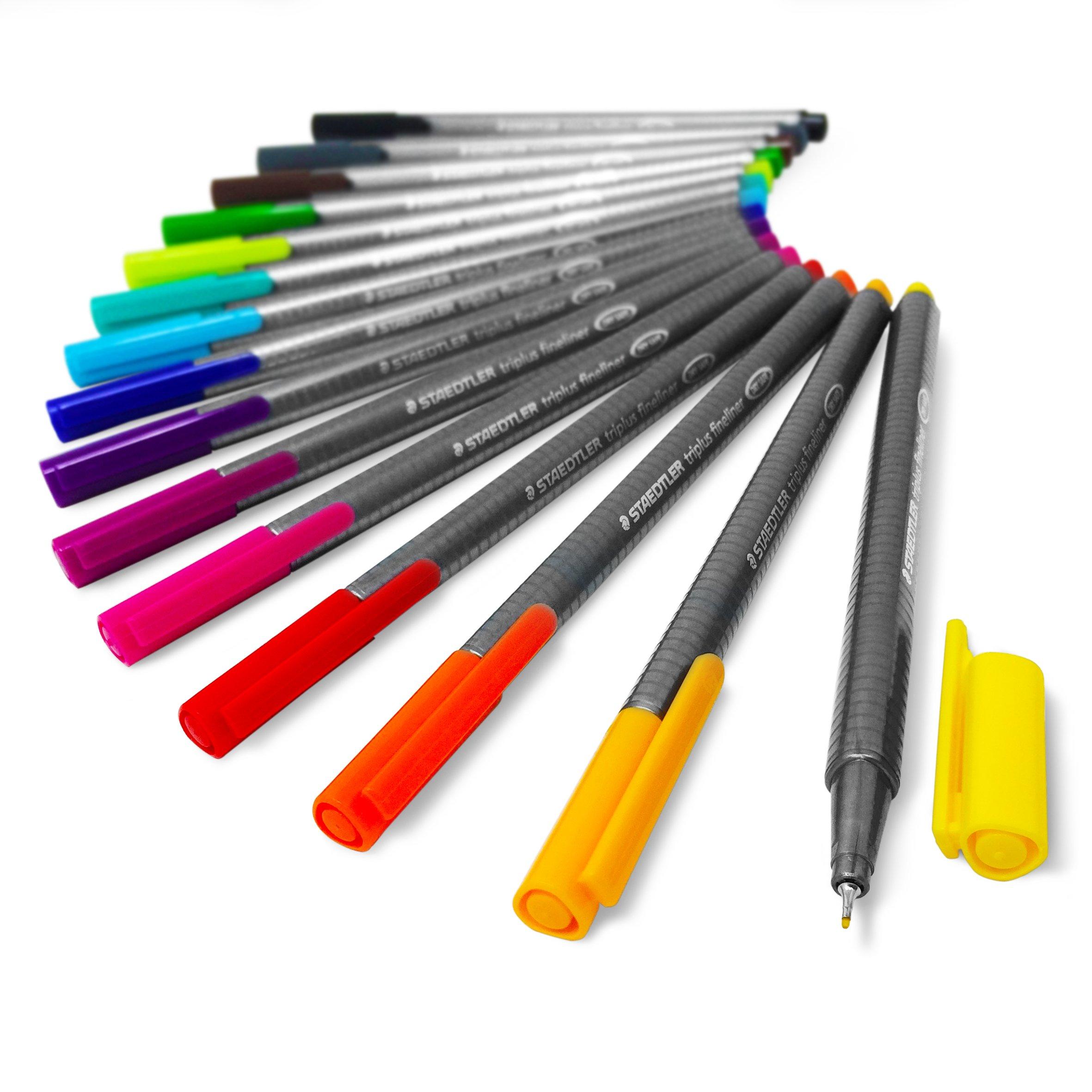 Staedtler Triplus Fineliner Pens - Metal Gift Tin of 15 Brilliant Colours - 0.3mm by STAEDTLER