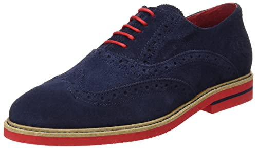 09fdcd62ab1 El Ganso Zapato Oxford Ante Marino - Zapatos de Cordones para Hombre ...