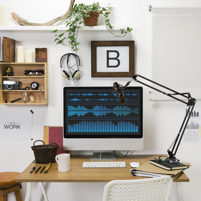 auna MIC-920BL Set micrófonos estudio V3 • Micrófono condensador USB • Blanco: Amazon.es: Instrumentos musicales
