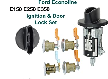 Amazon Com Econoline Van E150 E250 E350 Ignition Cylinder 4 Door Lock Set Cargo Automotive