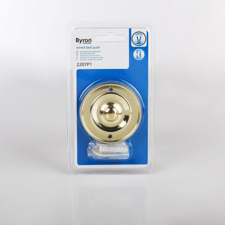 Finition en laiton Sonnette Byron DBW-21074 Montage encastr/é