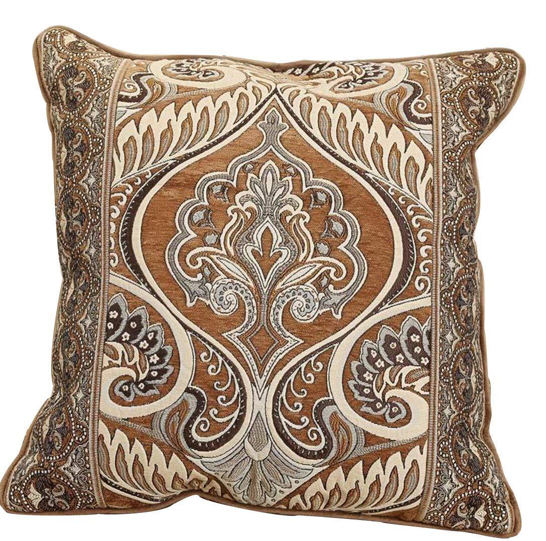 Ccoffee Cushion Cover24 x24  Sideli Luxury Chenille Jacquard Sofa Slipcover Anti-Slip Sectional Furniture Predector Petproof(35 x82 -Oversized Sofa, Beige)