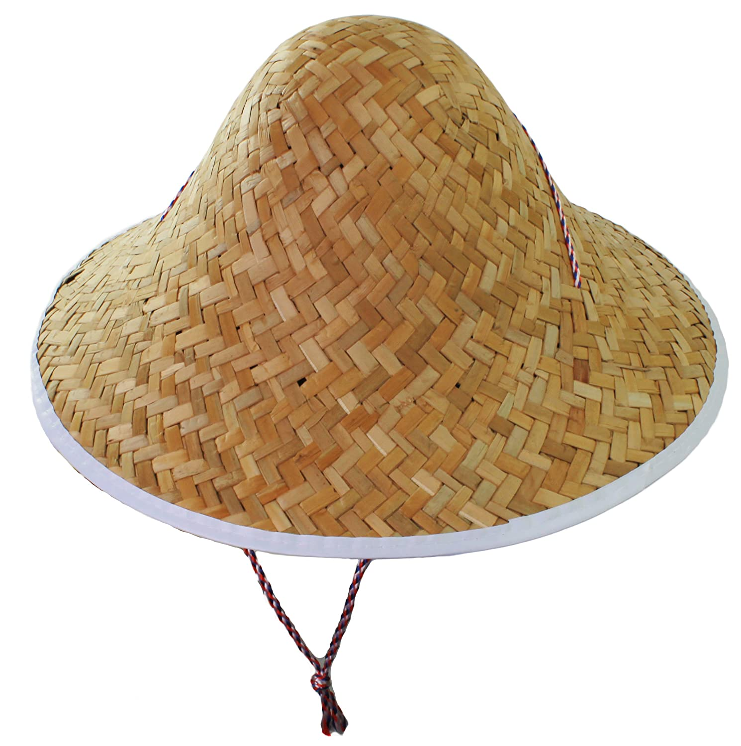 CHINESE ORIENTAL COOLIE HAT   CHINA MAN MOUSTACHE FANCY DRESS COSTUME SET  ASIAN STRAW HAT  Amazon.co.uk  Toys   Games c48061db970d