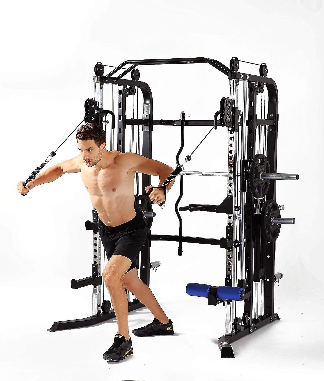 Amazon.com : mim usa functional trainer and smith machine combo all