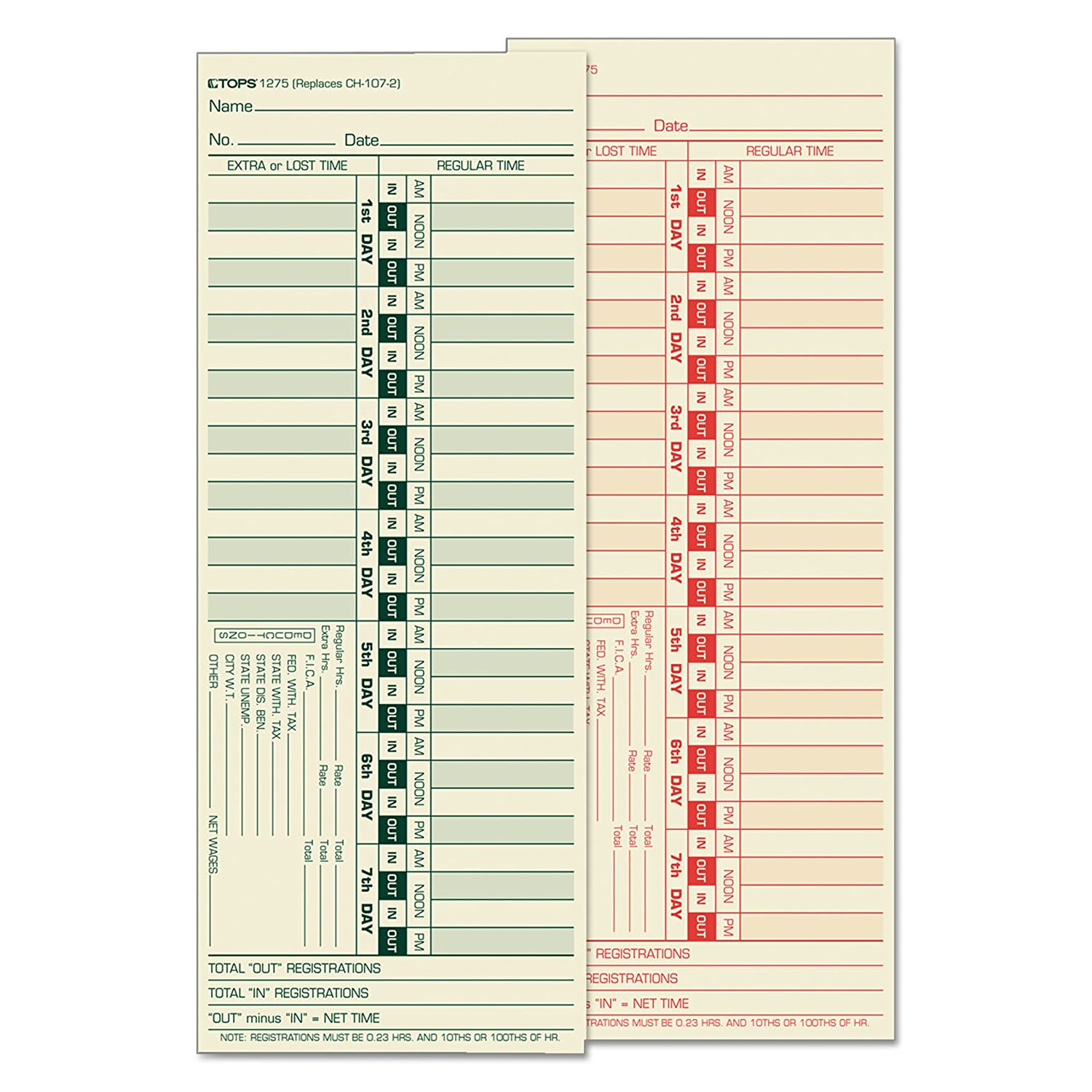 Time Card for Lathem, Bi-Weekly, Two-Sided, 3-1/2 x 500/Box 9, 500/Box x 49d6bb
