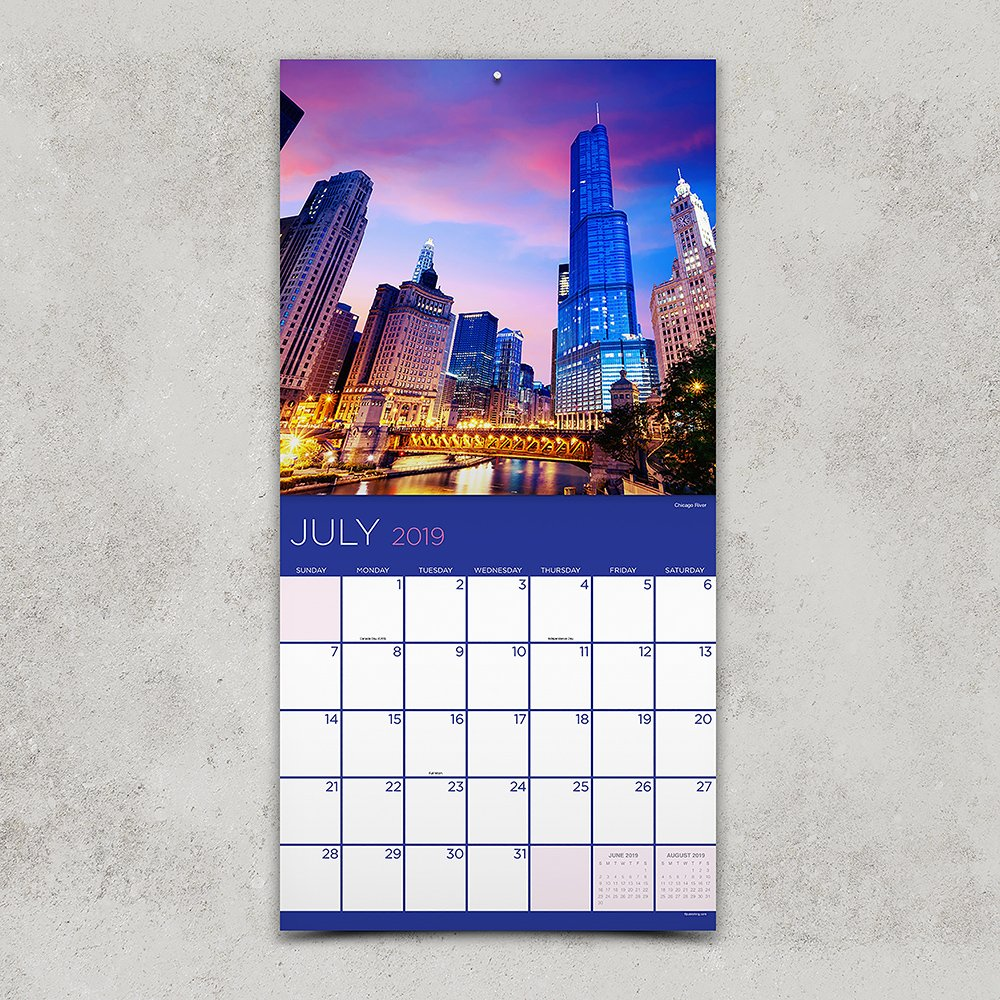 time factory chicago 12 x 12 january december 2019 wall calendar 19 1165