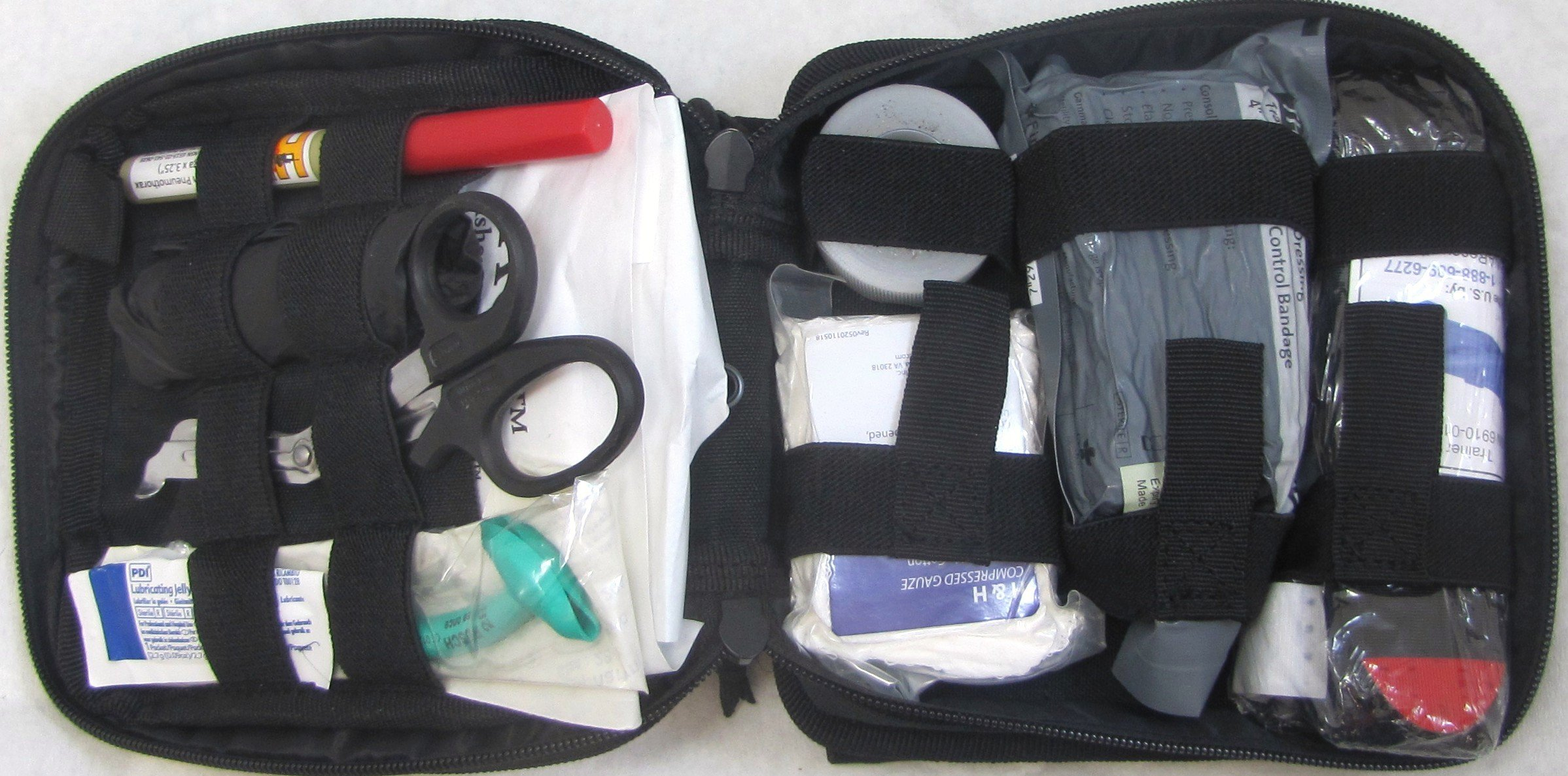 Elite First Aid Enhanced IFAK Kit Level 2 (Fully Stocked) (BLACK) by Elite First Aid
