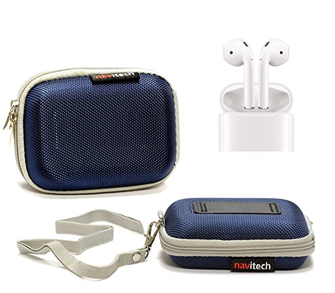 a1959ea58f8 Image Unavailable. Image not available for. Color: Navitech Blue Hard  Protective Earphone / Headphone Case for Apple AirPods