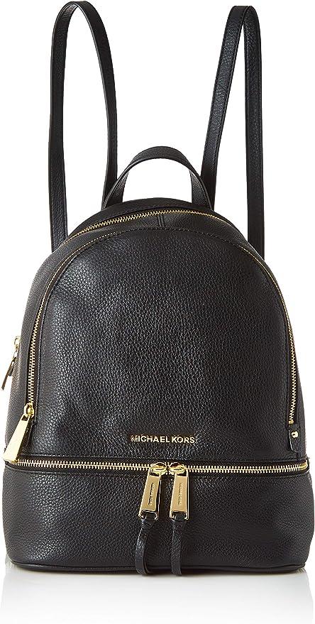 MICHAEL Michael Kors Rhea Zip Medium Leather Backpack, Black
