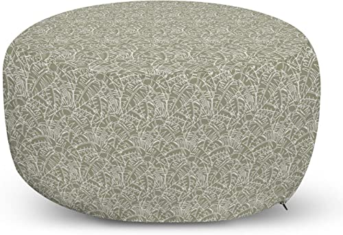 Ambesonne Abstract Ottoman Pouf