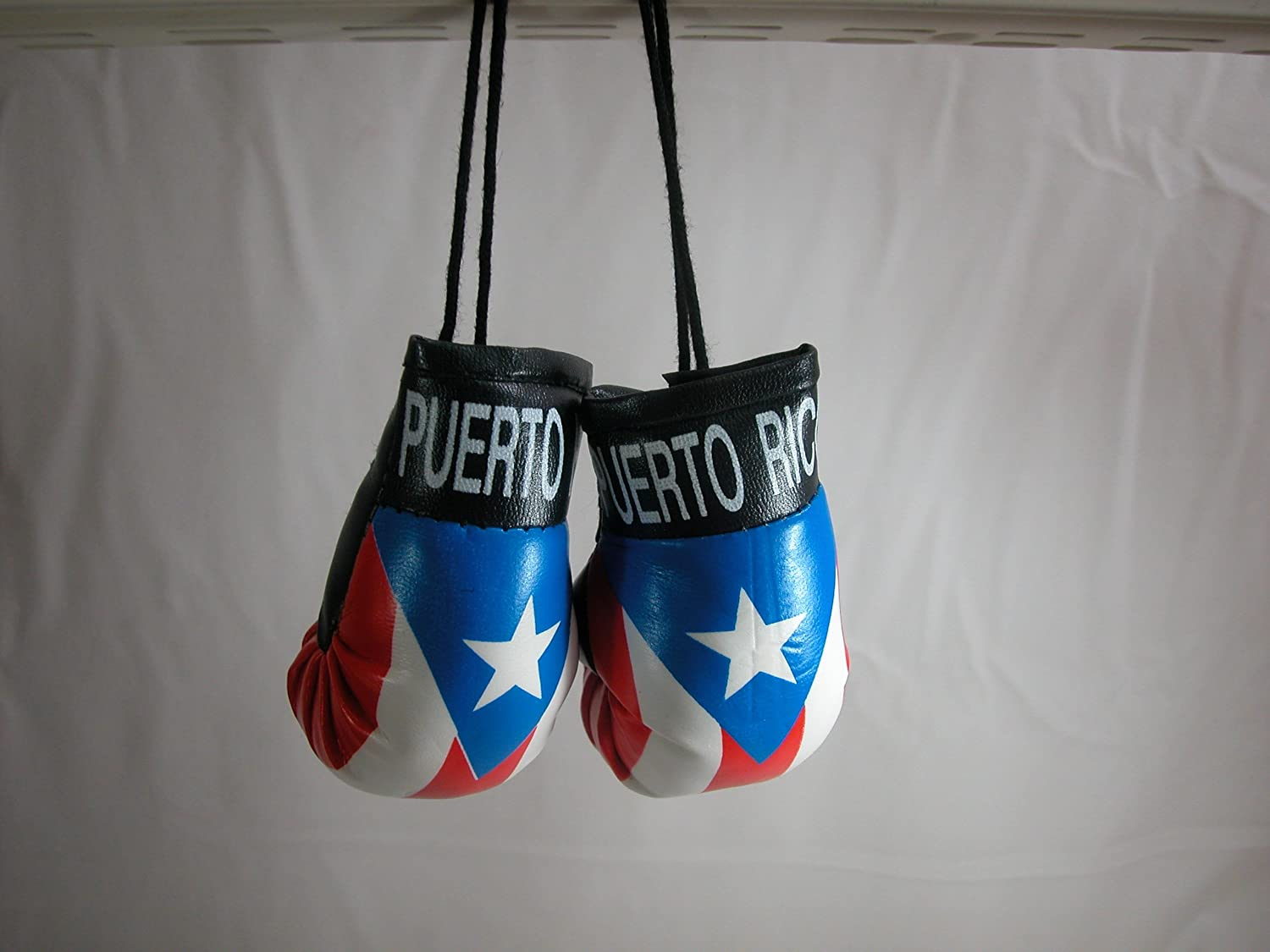 Puerto Rico Bandera Colour Mini boxing Gloves Car Hanging Ornament or gifts