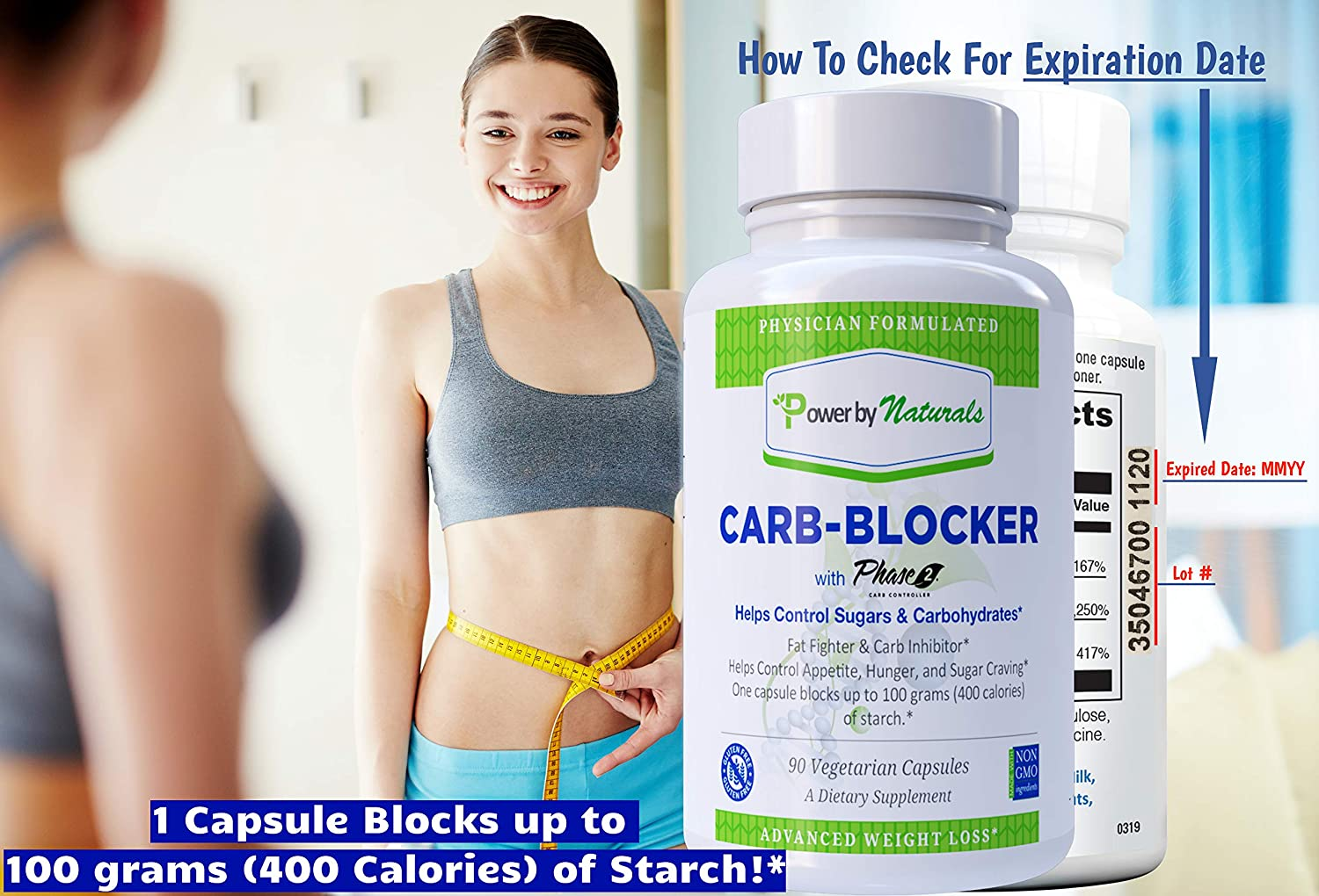 PbyN- Dr. Formulated Carb Blocker with Phase 2 Carb Controller (Chromium, White Kidney...
