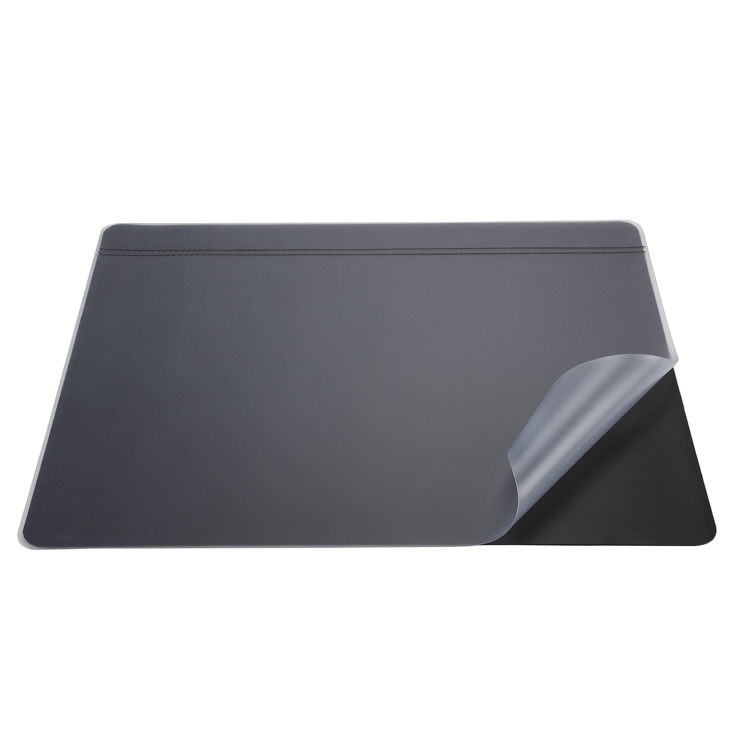 Artistic 48172 19'' x 24'' Krystal-Lift Non-Glare Desk Pad Organizer, Black/Frosted Lift Top