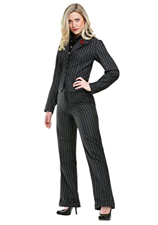 1930s Costumes- Bride of Frankenstein, Betty Boop, Olive Oyl, Bonnie & Clyde FunCostumes Female Gangster Costume $39.99 AT vintagedancer.com