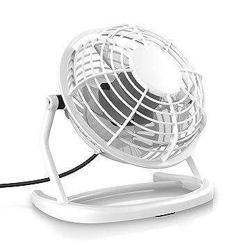 CSL - Ventilador USB   ventilador de mesa/ventilador   PC/portátil   en blanco: Amazon.es: Electrónica