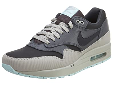 Nike Air Max 1 Leather, Chaussures de Course Homme Gris