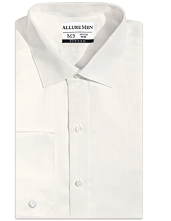 8c88678eebb Allure Men Amazing Fitted Spread Collar Swiss Weave Dress Shirt ...